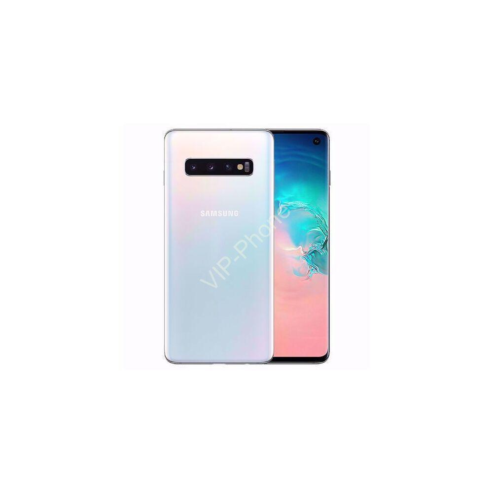 Samsung G973 Galaxy S10 128GB Dual-Sim fehér gyártói garanciás kártyafüggetlen mobiltelefon