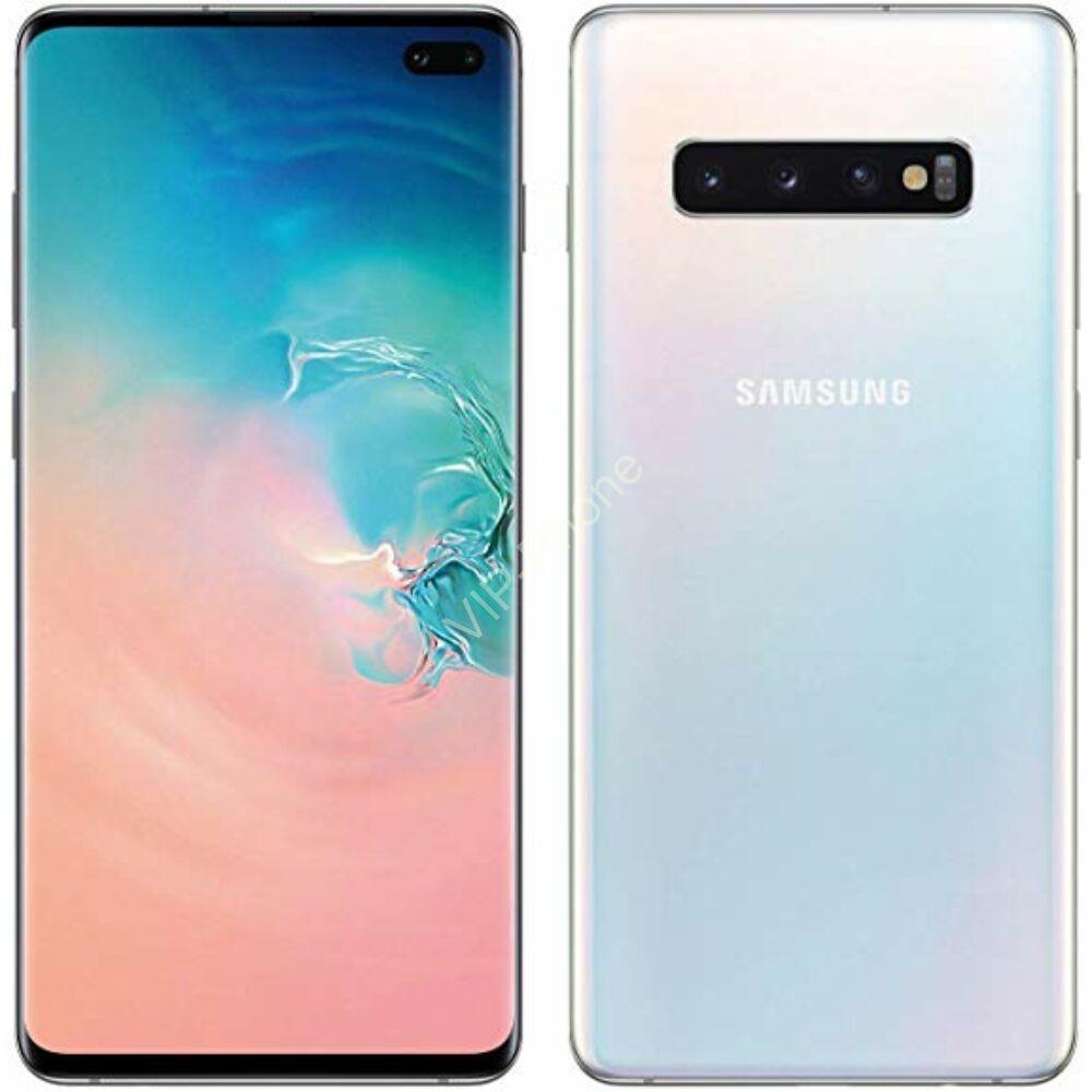 Samsung G975 Galaxy S10+ 128GB Dual-Sim fehér gyártói garanciás kártyafüggetlen mobiltelefon