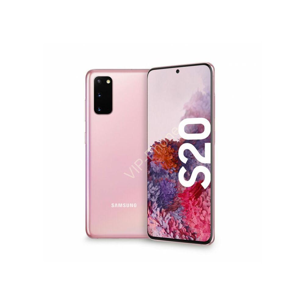 Samsung G980 Galaxy S20 128GB Dual-Sim rózsaszín gyártói garanciás kártyafüggetlen mobiltelefon