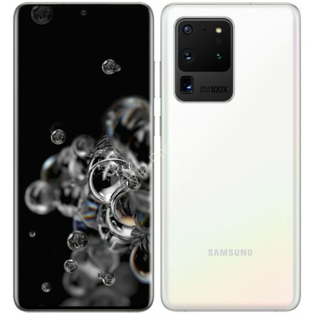 Samsung G988 Galaxy S20 Ultra 5G 128GB Dual-Sim fehér kártyafüggetlen mobiltelefon