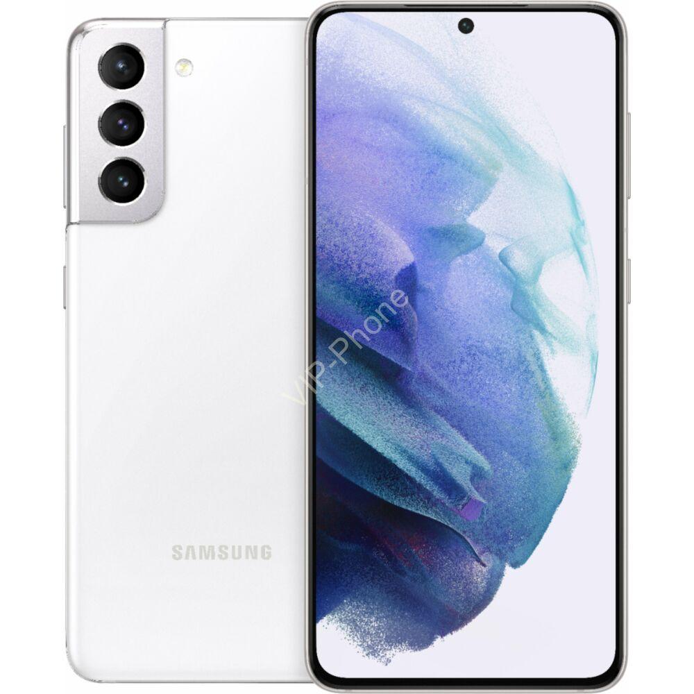 Samsung G991 Galaxy S21 5G Dual Sim 8GB RAM 256GB fehér kártyafüggetlen mobiltelefon