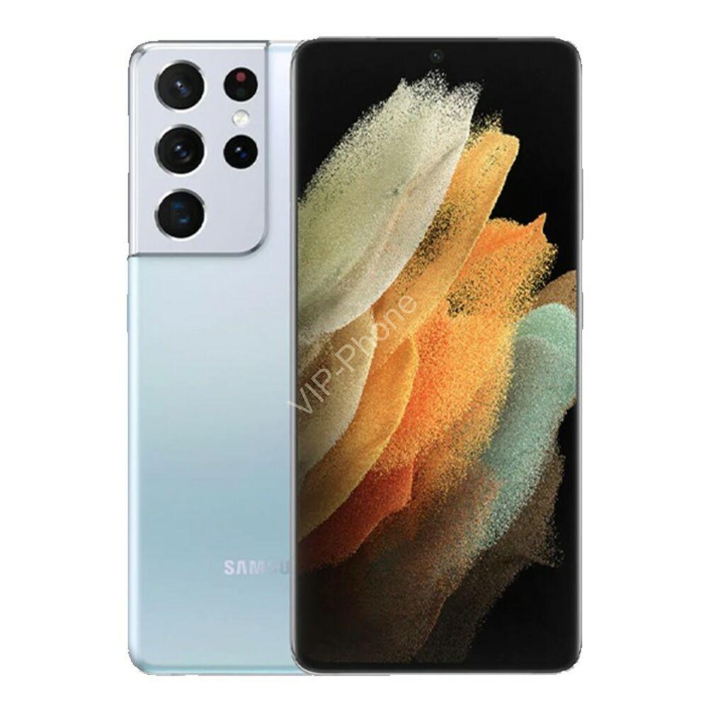 Samsung G998 Galaxy S21 Ultra 5G Dual Sim 12GB RAM 128GB Ezüst kártyafüggetlen mobiltelefon