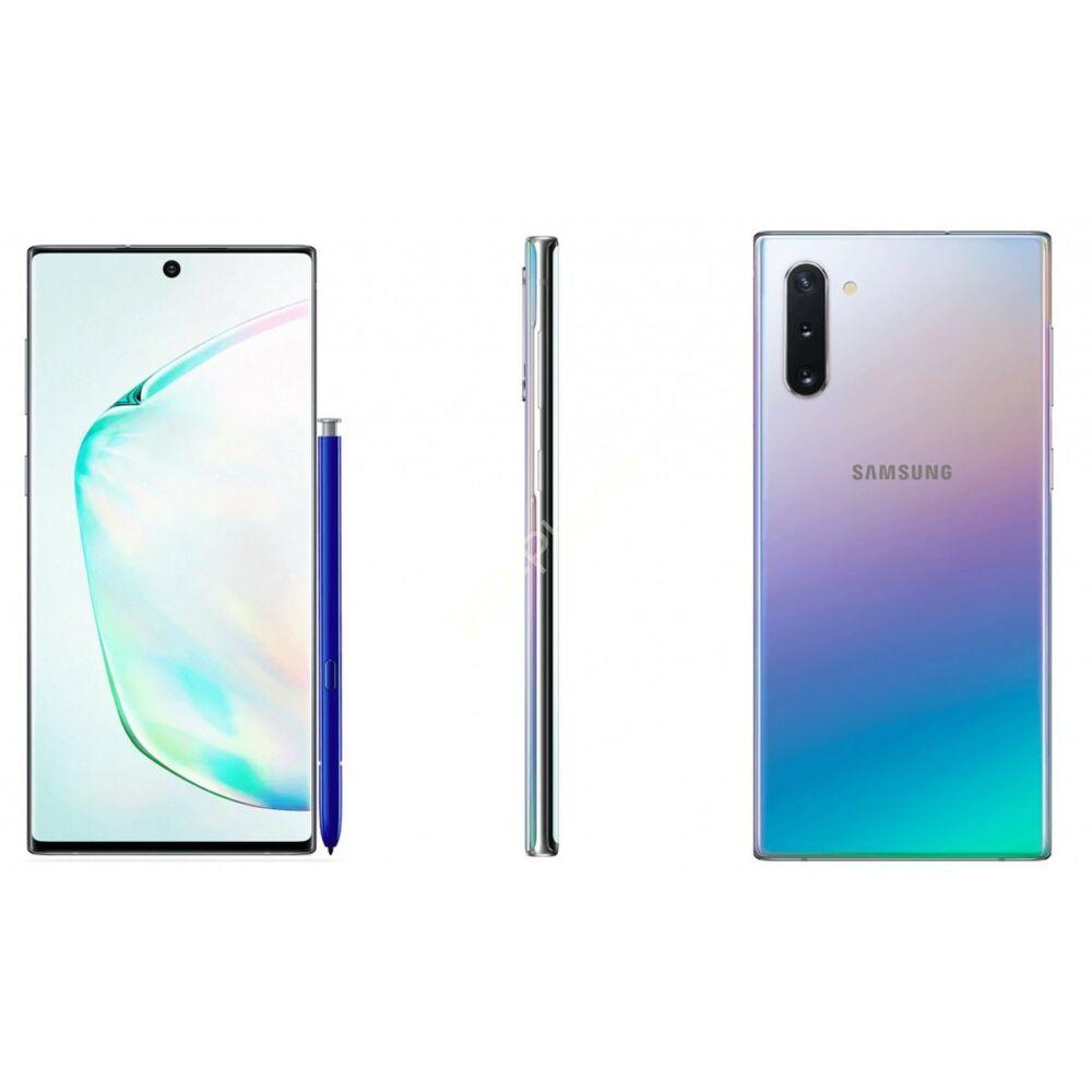 Samsung N970 Galaxy Note 10 256GB Dual-Sim ezüst gyártói garanciás kártyafüggetlen mobiltelefon