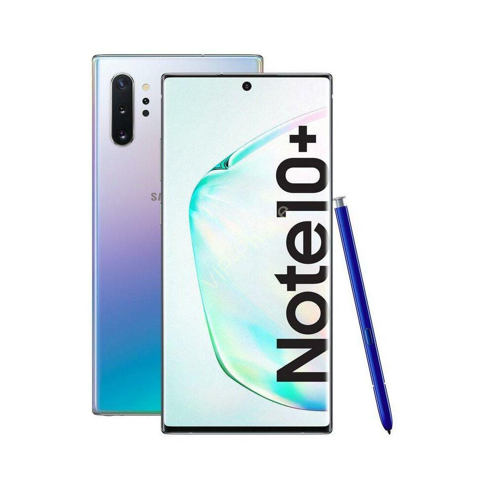 Samsung N975 Galaxy Note 10+ 512GB Dual-Sim ezüst gyártói garanciás kártyafüggetlen mobiltelefon