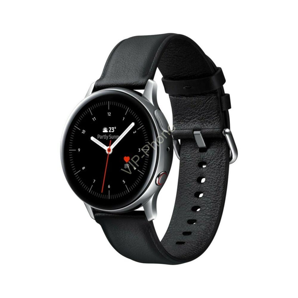 Samsung R820 Galaxy Watch Active 2 44mm rozsdamentes acél ezüst okosóra 2 év gyártói garanciával
