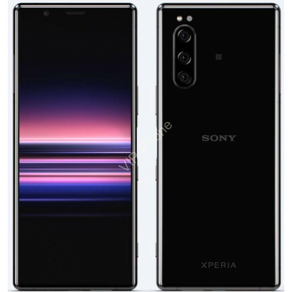 Sony J9210 Xperia 5 128GB Dual-Sim fekete gyártói garanciás kártyafüggetlen mobiltelefon