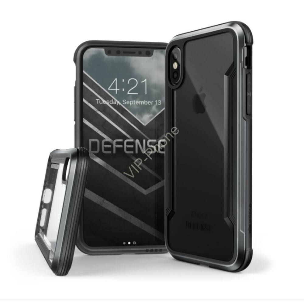 Defense Shield védőtok iPhone X fekete