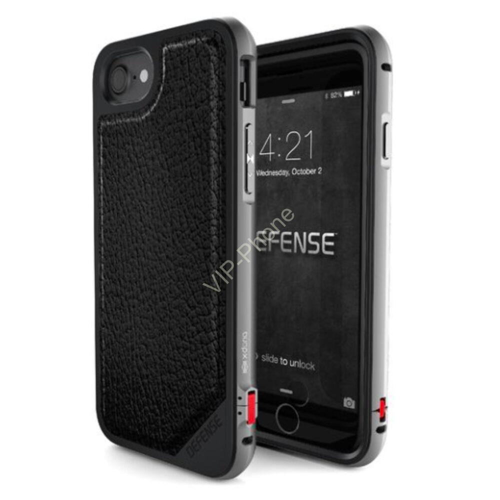 Defense Lux védőtok iPhone 7 / 8 Fekete Bőr