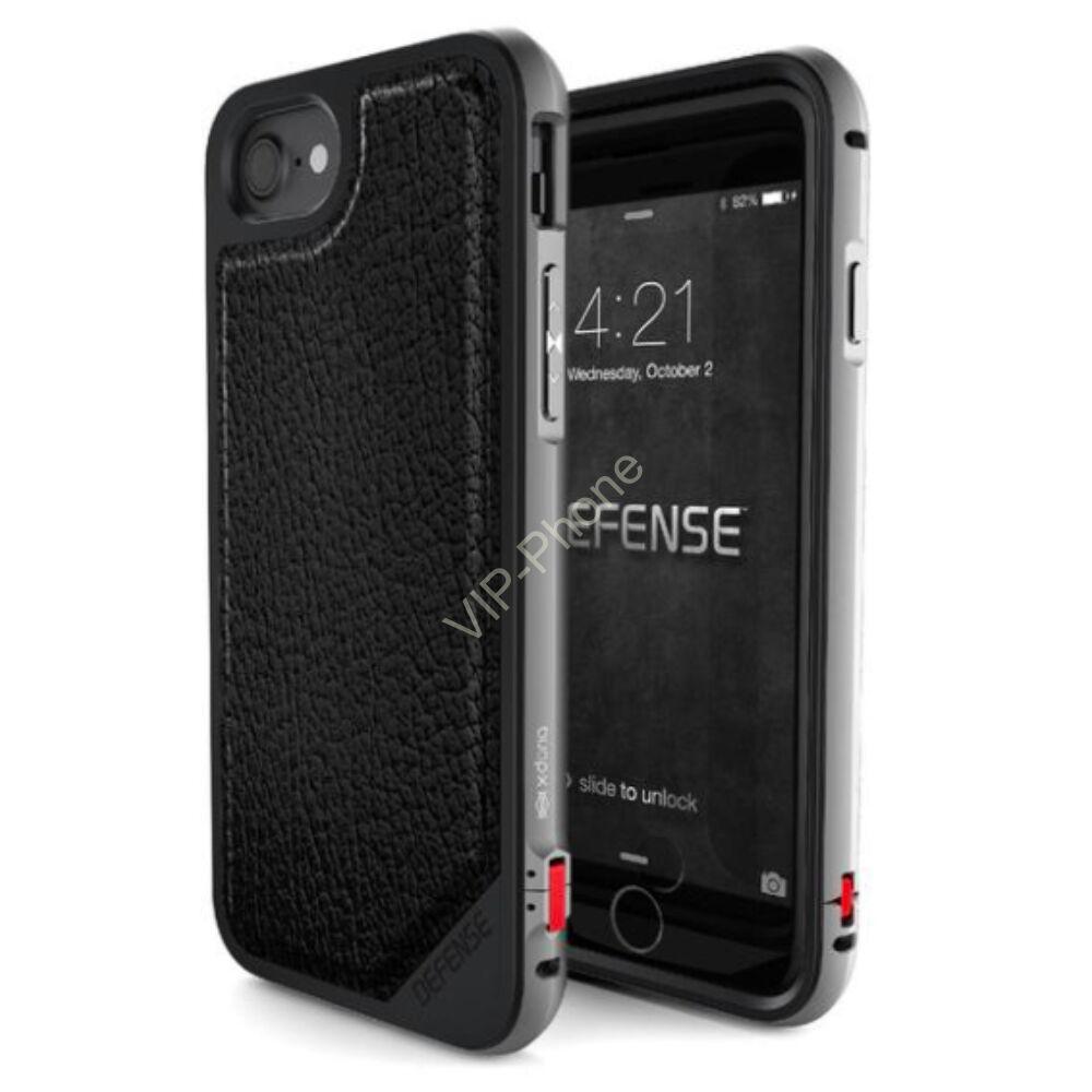 Defense Lux védőtok iPhone 7 Plus / 8 Plus Fekete Bőr