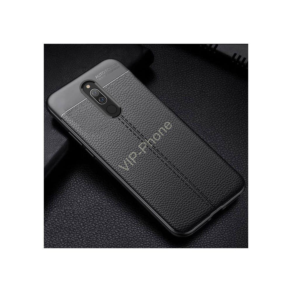 Xiaomi Redmi 9 szilikon telefonvédő (közepesen ütésálló, bőr hatású, varrás minta) FEKETE