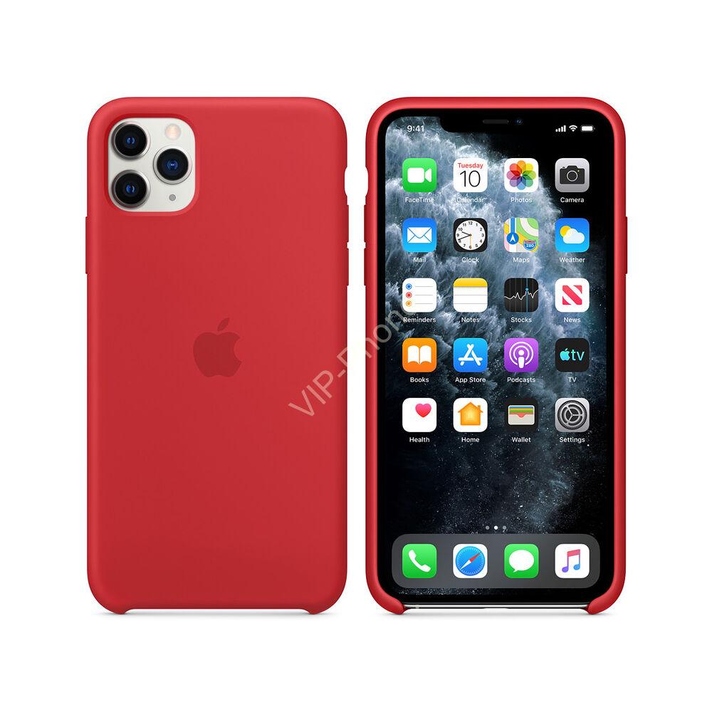Apple iPhone 11 Pro Max szilikontok, piros (mwyv2zm/a)