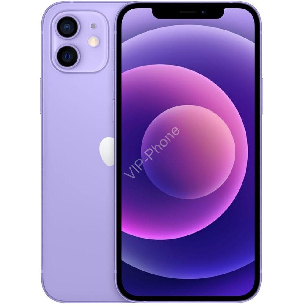 Apple iPhone 12 64GB Lila, Gyártói Apple Store Garanciás Mobiltelefon