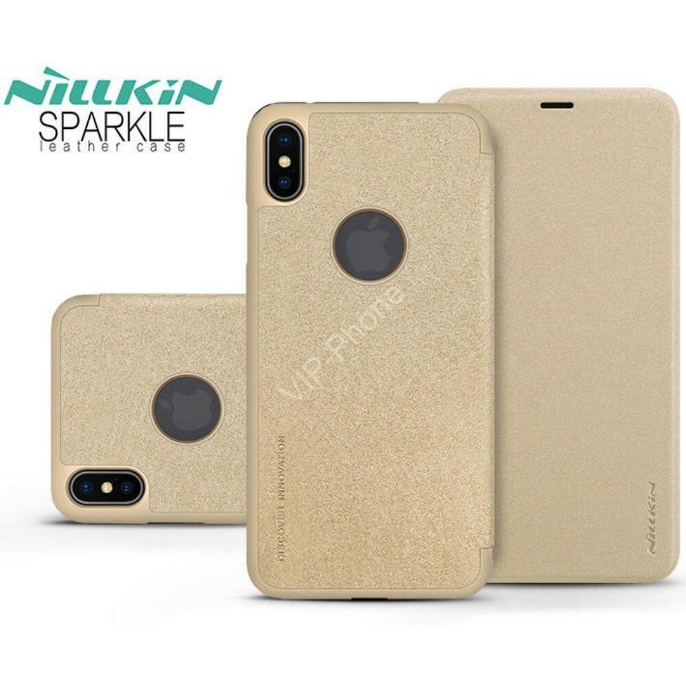 apple-iphone-xs-max-oldalra-nyilo-flipes-tok-nillkin-sparkle-logo-gold.jpg