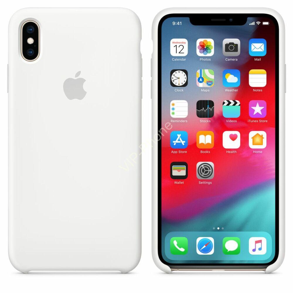 Apple iPhone Xs Max szilikontok, fehér (mrwf2zm/a)