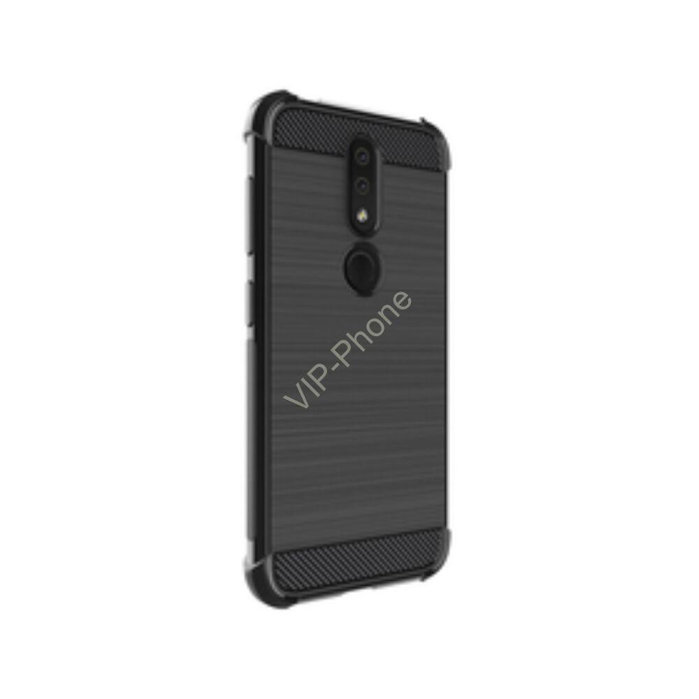 LG Q60 IMAK VEGA szilikon tok, fekete