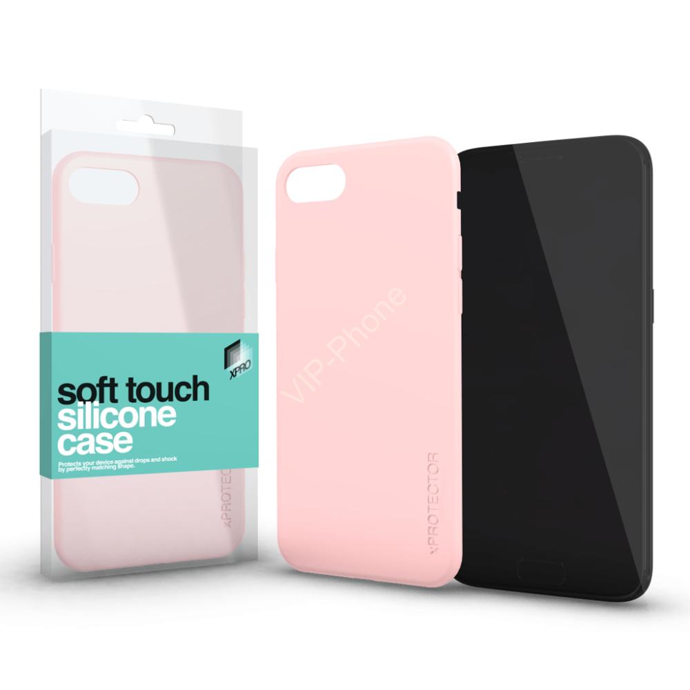 Magnetic Soft Touch Silicone Case púder pink Apple iPhone X készülékhez