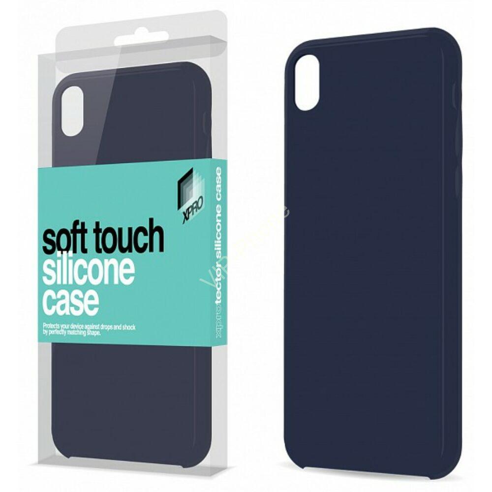 Magnetic Soft Touch Silicone Case sötétkék Apple iPhone X készülékhez