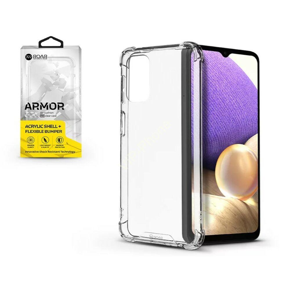 Samsung A325 Galaxy A32 - ROAR GEL ARMOR szilikon telefonvédő (közepesen ütésálló, légpárnás sarok) Átlátszó