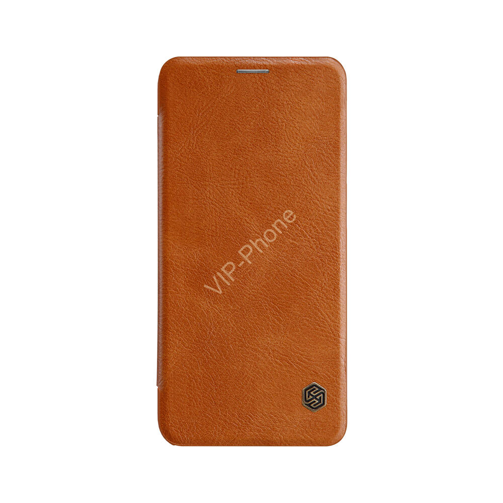 Samsung Galaxy A50 / A50S / A30 / A30S  - NILLKIN QIN tok álló, bőr (FLIP, oldalra nyíló, bankkártya tartó) BARNA