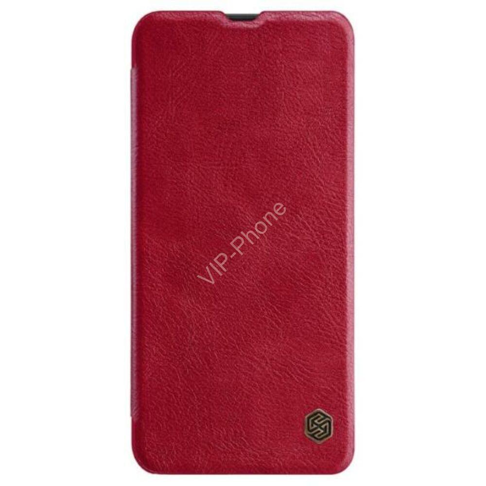 Samsung Galaxy A50 / A50S / A30 / A30S - NILLKIN QIN tok álló, bőr (FLIP, oldalra nyíló, bankkártya tartó) PIROS