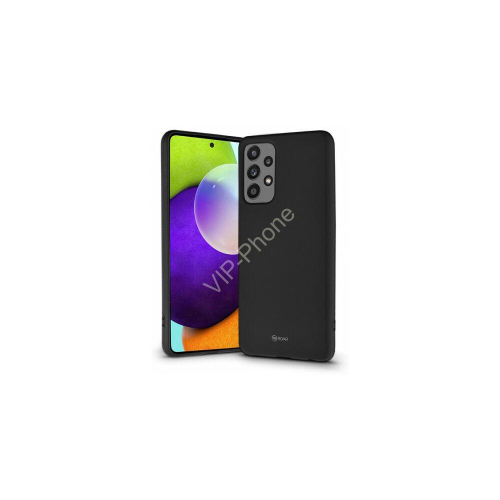 Samsung A525 Galaxy A52 (5G) - ROAR ALL DAY JELLY szilikon telefonvédő, Fekete