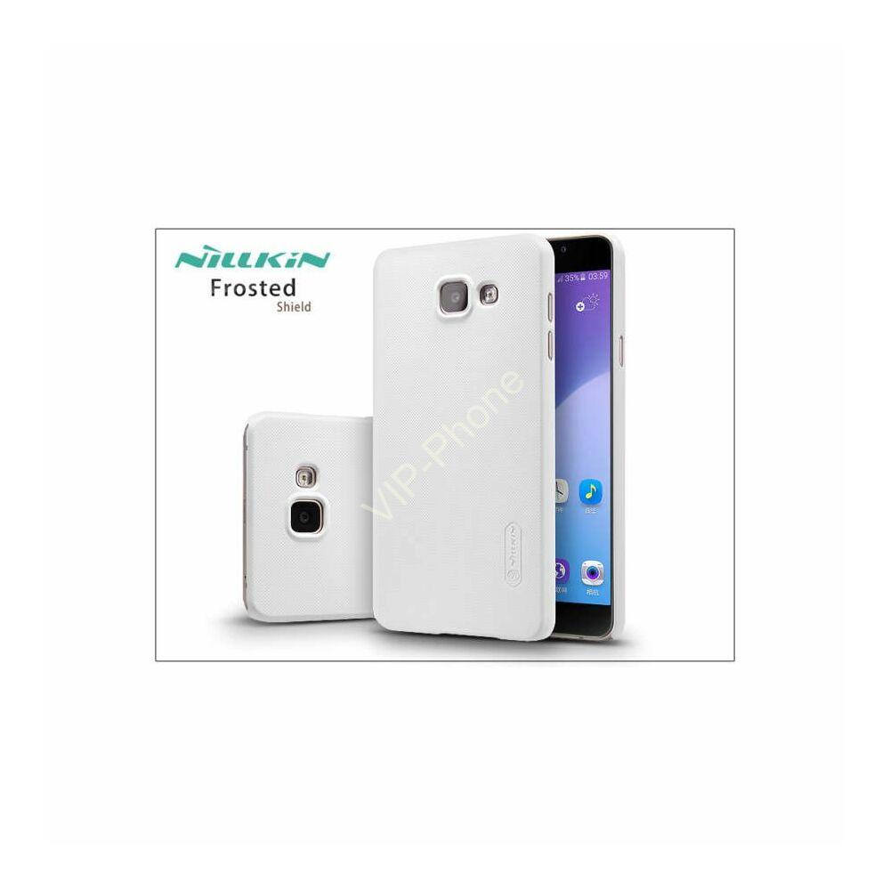Samsung A710F Galaxy A7 (2016) hátlap képernyővédő fóliával - Nillkin Frosted Shield - fehér