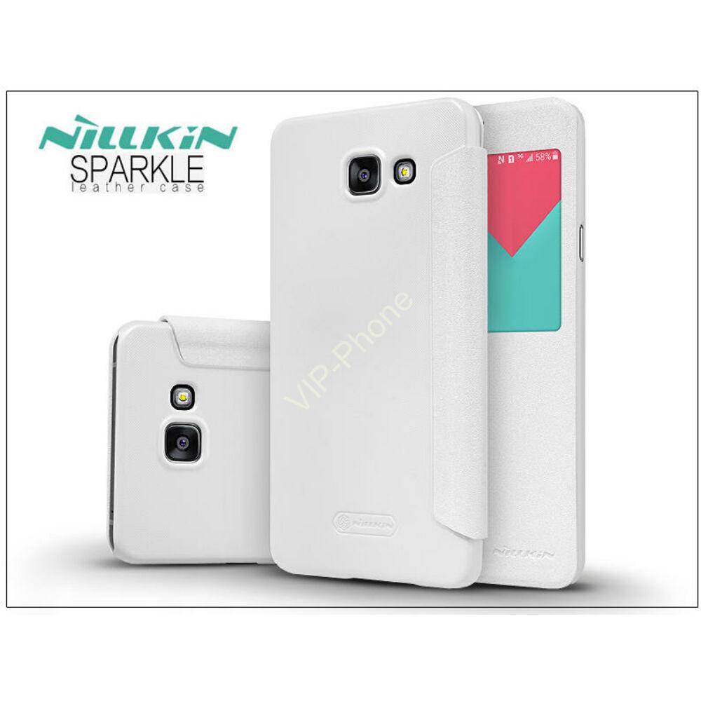 Samsung A710F Galaxy A7 (2016) oldalra nyíló flipes - Nillkin Sparkle - fehér