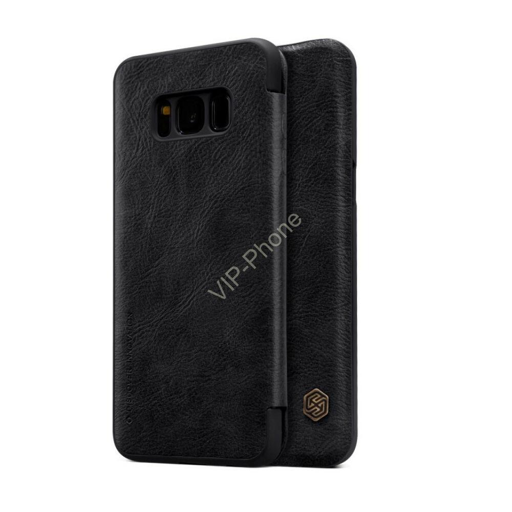 Samsung G950F Galaxy S8 oldalra nyíló flipes - Nillkin Qin - fekete