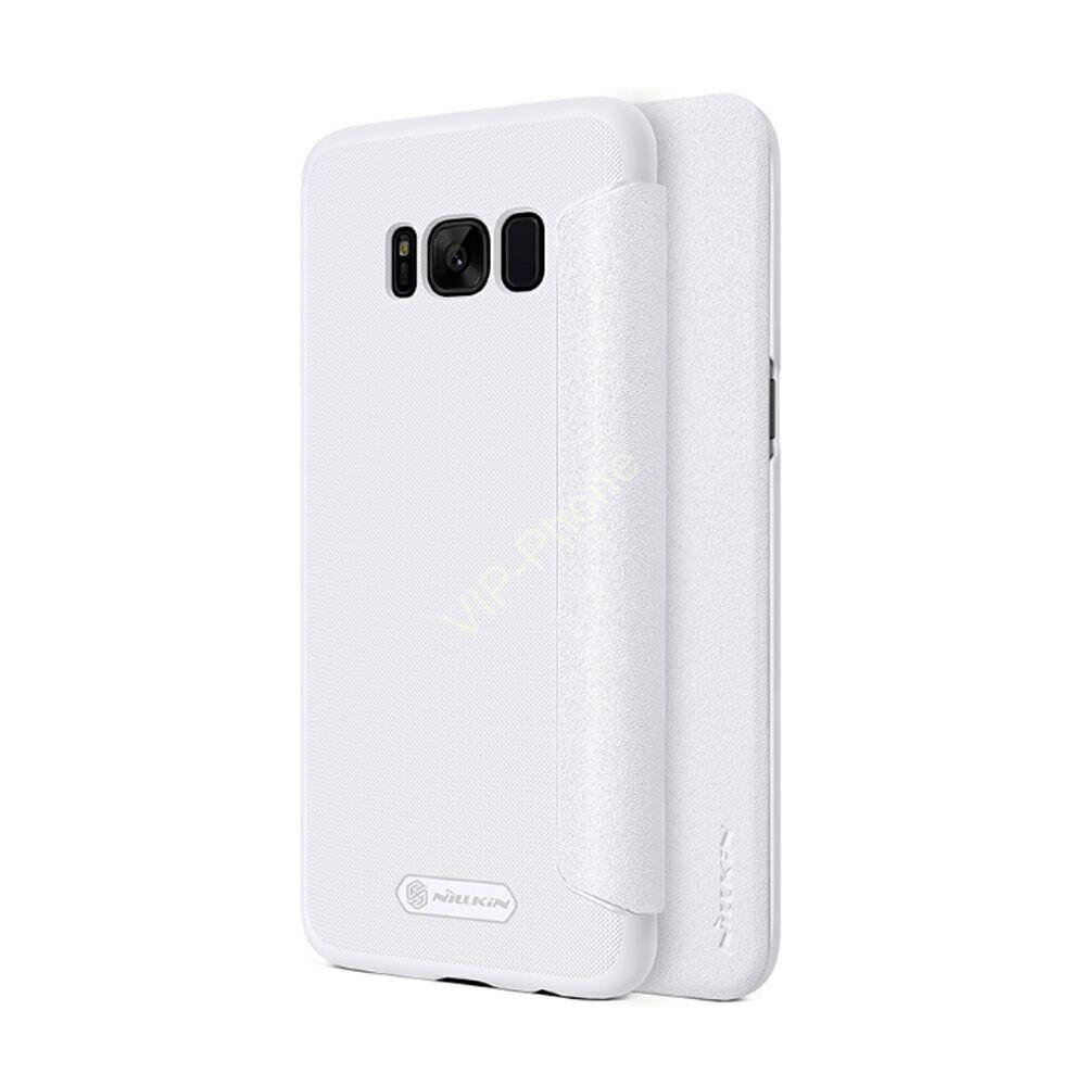 Samsung G950F Galaxy S8 oldalra nyíló flipes - Nillkin Sparkle - fehér