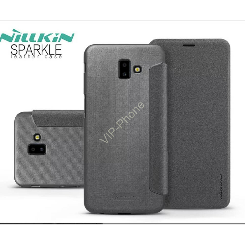 Samsung G955F Galaxy S8 Plus oldalra nyíló flipes - Nillkin Sparkle - fekete