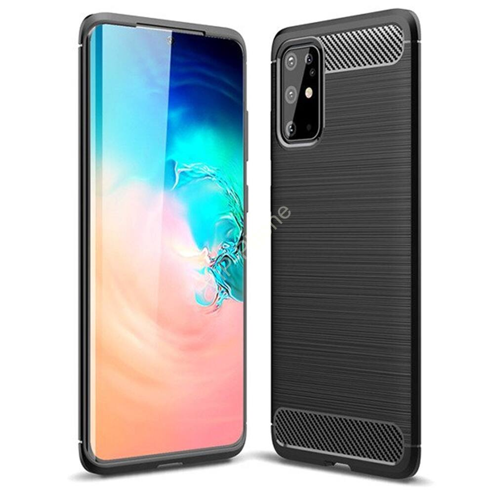 Samsung G985F Galaxy S20+ szilikon hátlap - Carbon - fekete