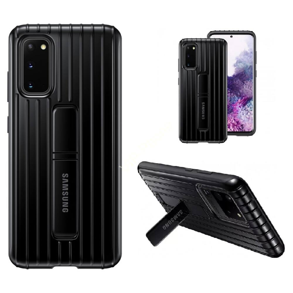 Samsung Galaxy S20 (G980)  GYÁRI STANDING COVER, HÁTLAPTOK EF-RG980CB, FEKETE