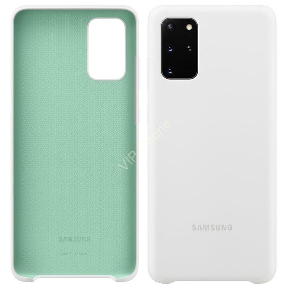 Samsung Galaxy S20 Plus (G985F) SILICONE COVER, GYÁRI SZILIKON TOK, FEHÉR EF-PG985TW
