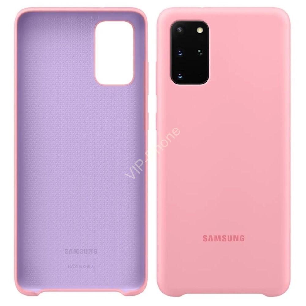 Samsung Galaxy S20 Plus (G985F) SILICONE COVER, GYÁRI SZILIKON TOK, RÓZSASZÍN EF-PG985TP