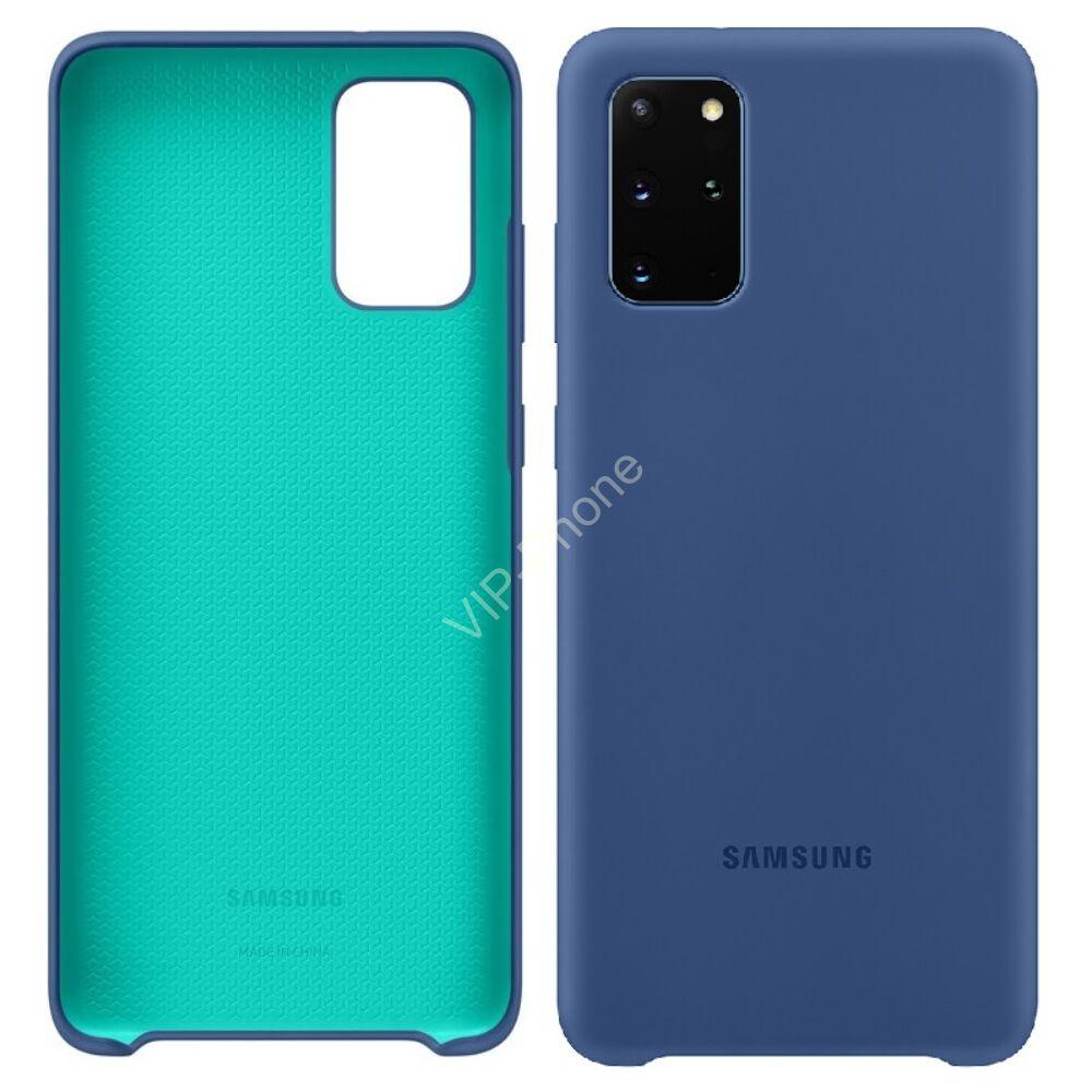 Samsung Galaxy S20 Plus (G985F) SILICONE COVER, GYÁRI SZILIKON TOK, SÖTÉTKÉK EF-PG985TN
