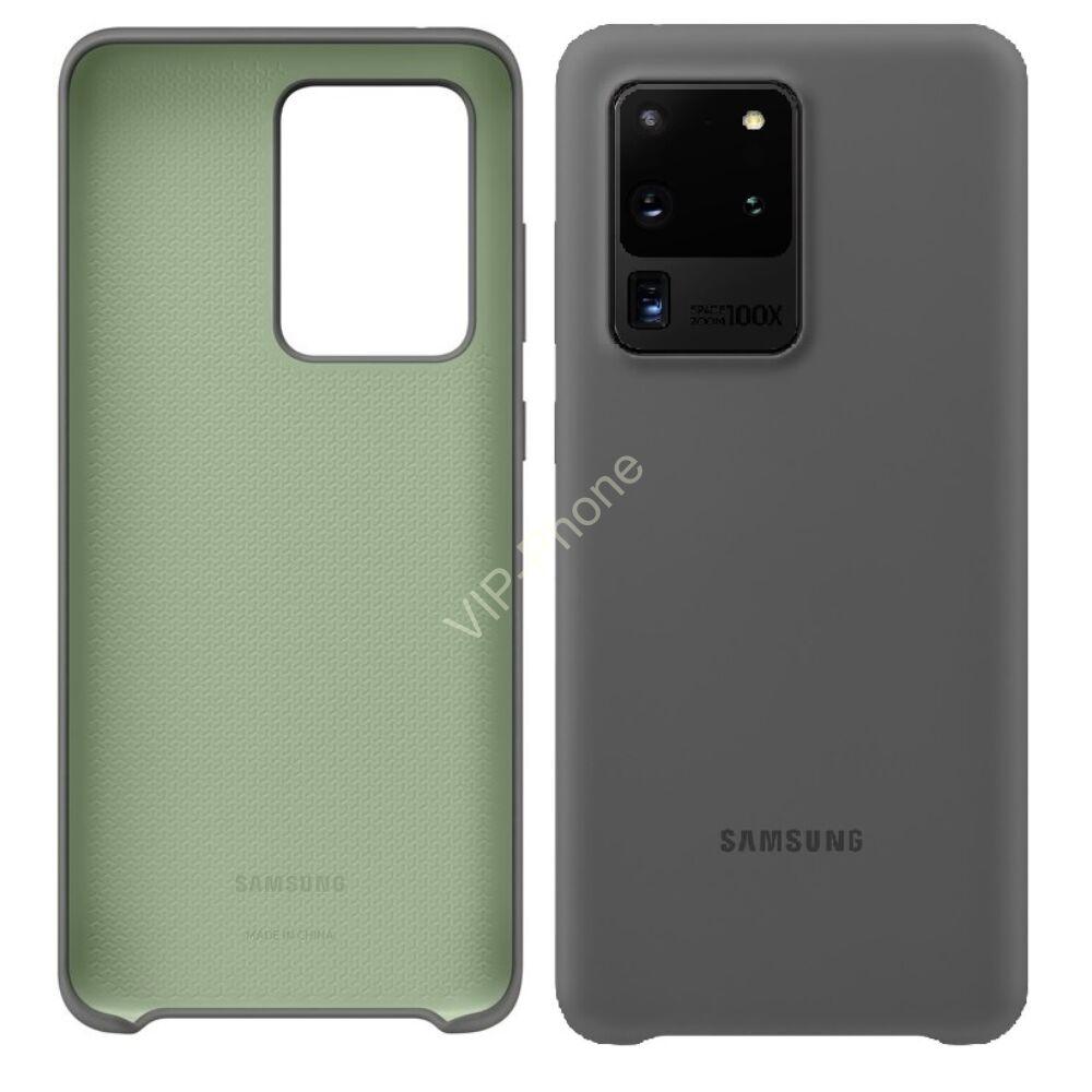 Samsung Galaxy S20 Ultra (G988F) SILICONE COVER, GYÁRI SZILIKON TOK, SZÜRKE EF-PG988TJ