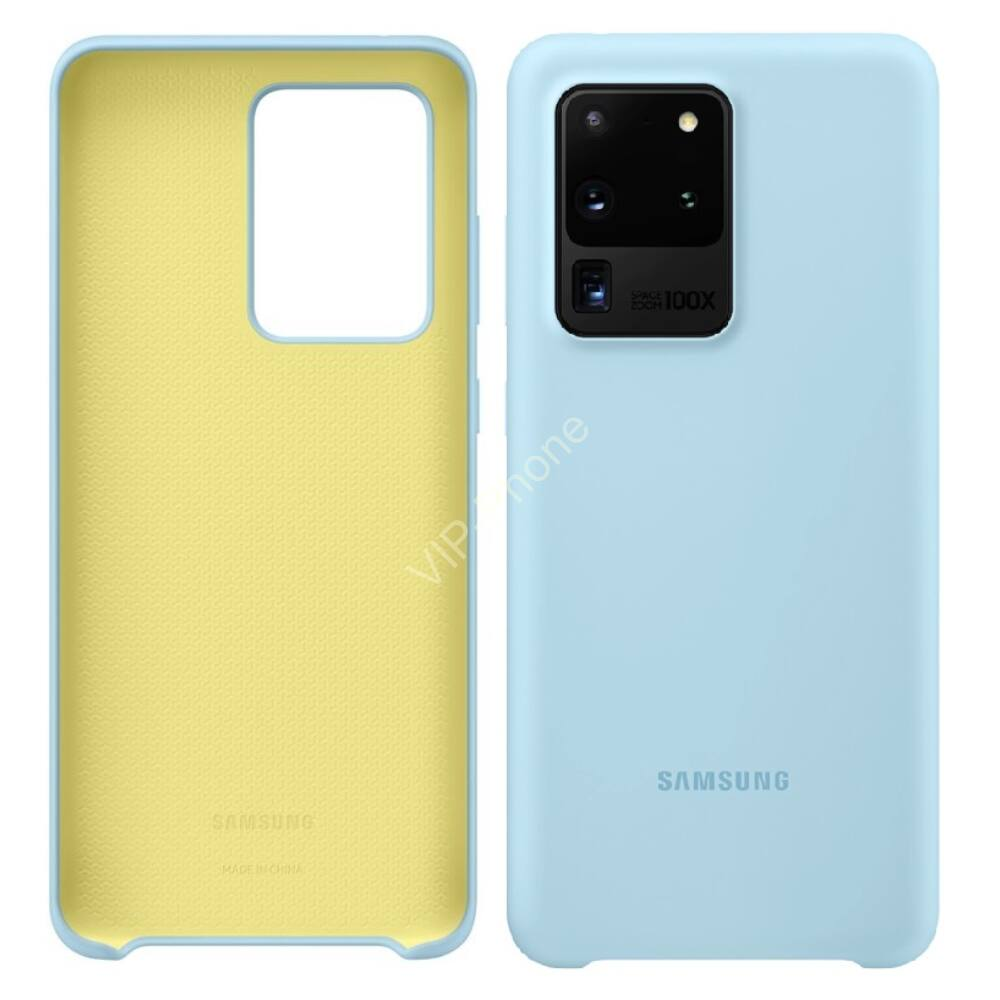 Samsung Galaxy S20 Ultra (G988F) SILICONE COVER, GYÁRI SZILIKON TOK, VILÁGOSKÉK EF-PG988TL