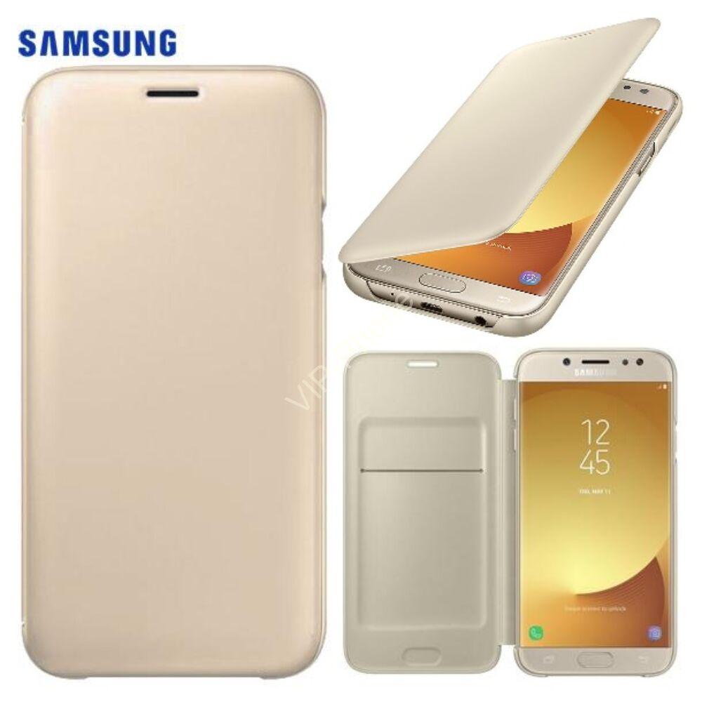 pretty nice 32f7f 74a93 Samsung J530 Galaxy J5 (2017) gyári Wallet Cover flip tok, arany,  EF-WJ530CFEG, (SM-J530)