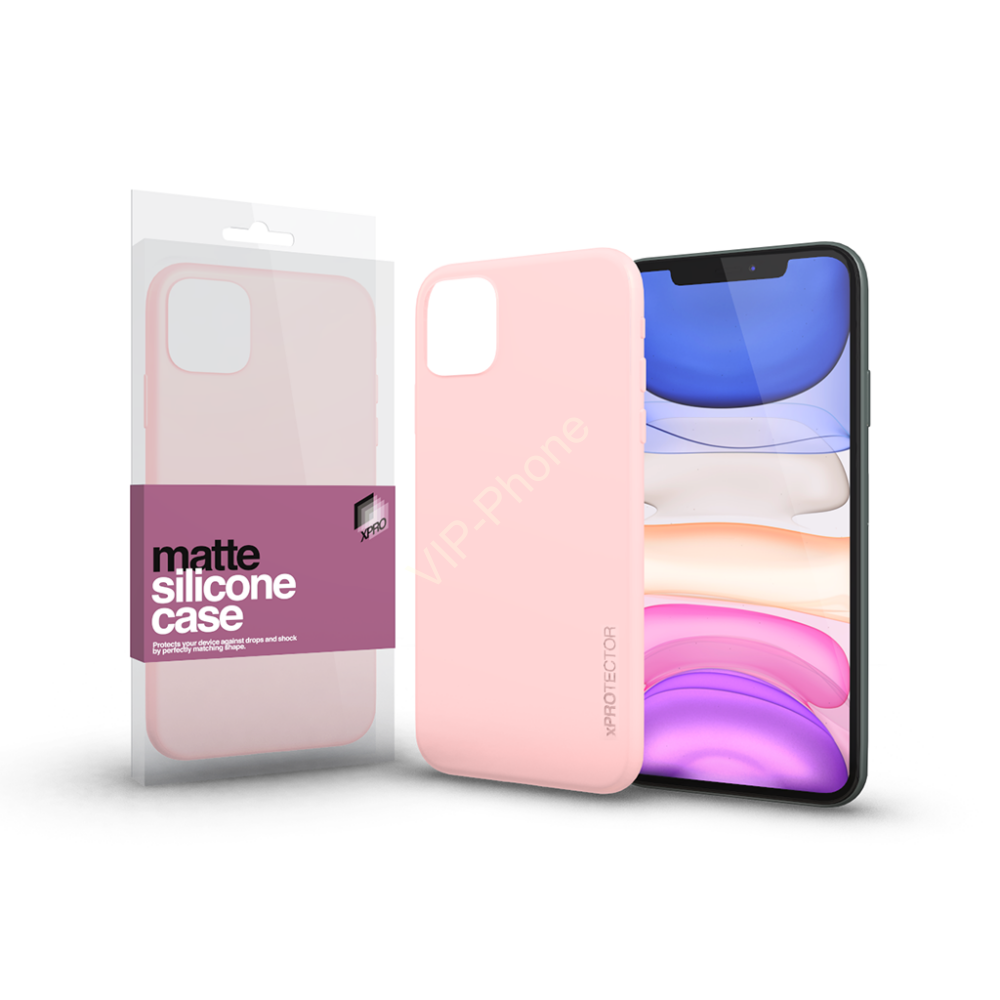 Soft Touch Silicone Case púder pink Apple iPhone 11 készülékhez