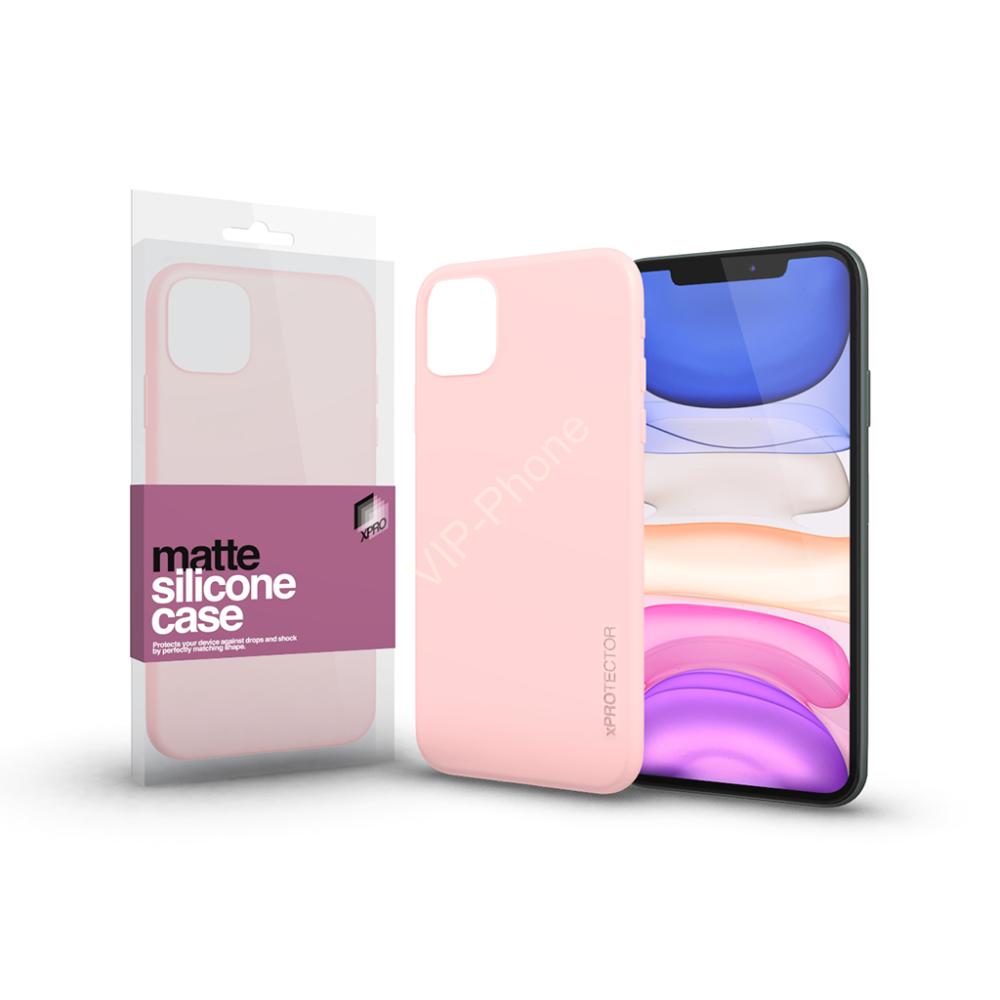 Szilikon matte tok ultra vékony Púder pink Apple iPhone Xs Max készülékhez