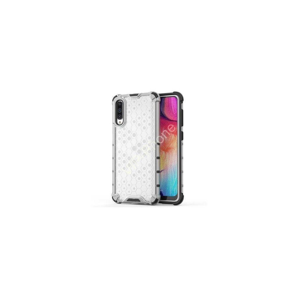 Xiaomi Redmi Note 8 Defender műanyag telefonvédő (közepesen ütésálló, szilikon belső, légpárnás sarok, méhsejt minta) ÁTLÁTSZÓ