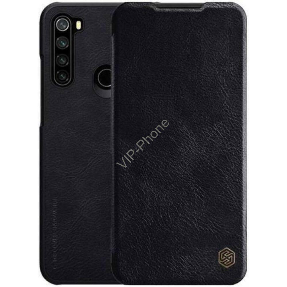 Xiaomi Redmi Note 8 oldalra nyíló flipes tok - Nillkin Qin - fekete
