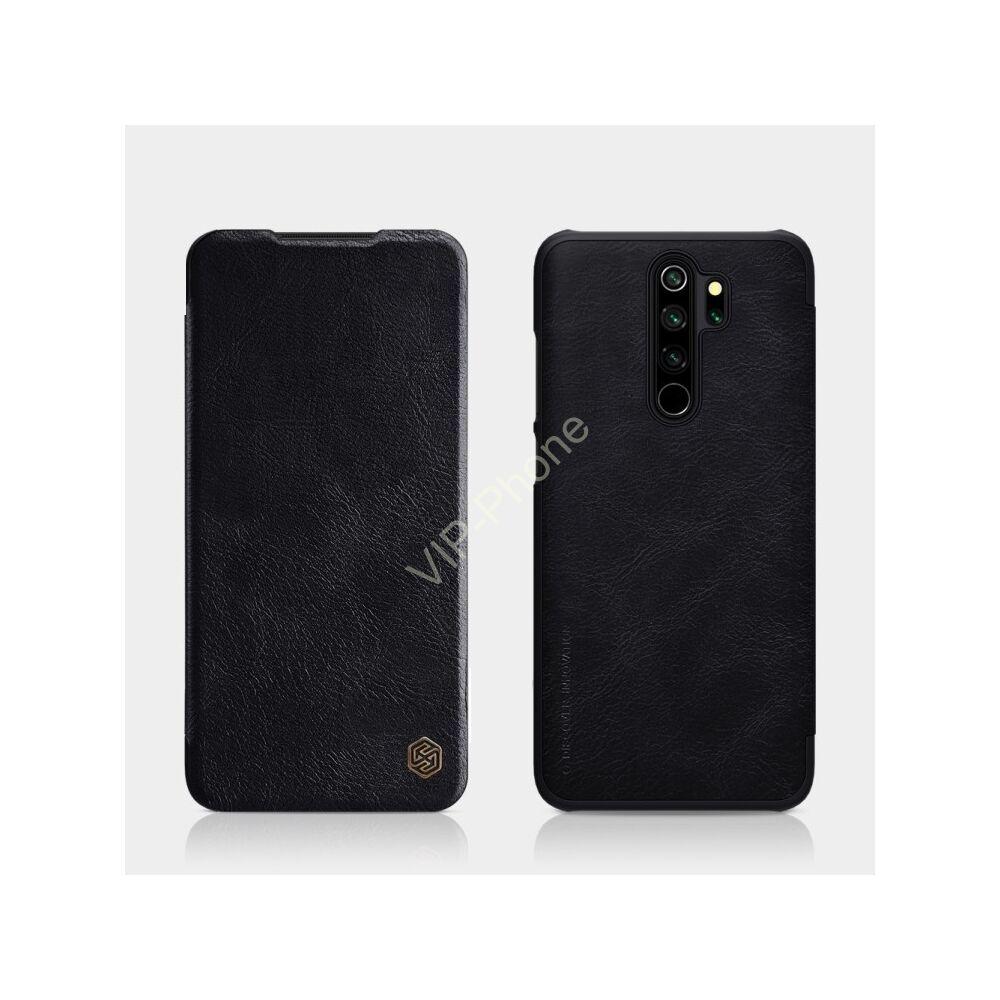 Xiaomi Redmi Note 8 Pro oldalra nyíló flipes tok - Nillkin Qin - fekete