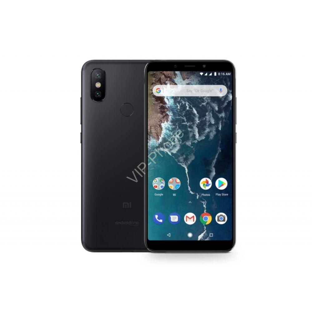 Xiaomi Mi A2 64GB Dual-Sim fekete gyártói garanciás kártyafüggetlen mobiltelefon