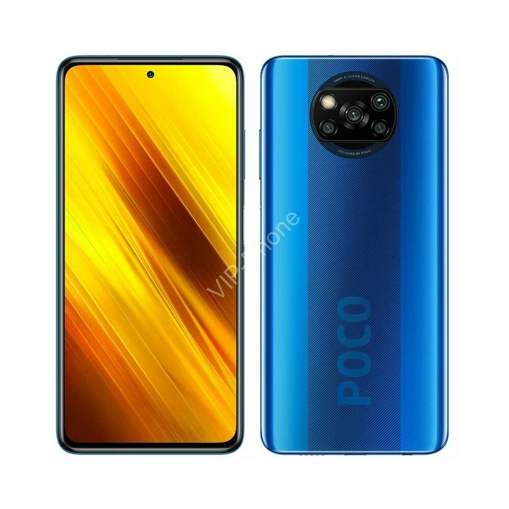 Xiaomi Pocophone X3 NFC Dual Sim 6GB RAM 64GB, Kék kártyafüggetlen mobiltelefon