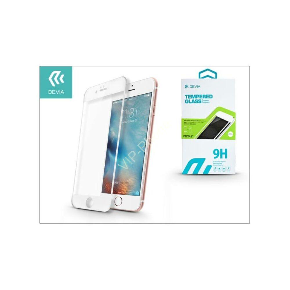 Apple iPhone 6/6S üveg képernyő- + Crystal hátlapvédő fólia - Devia Full Screen Tempered Glass - 1 + 1 db/csomag – white