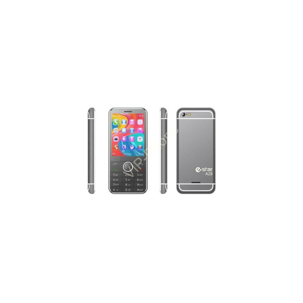 eSTAR A28 Dual-Sim ezüst gyártói garanciás kártyafüggetlen mobiltelefon