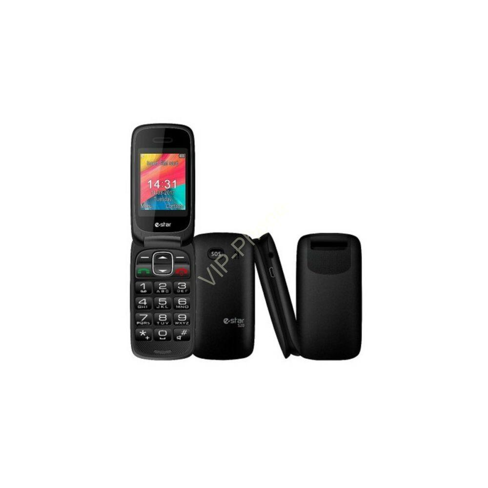 eSTAR S20 fekete gyártói garanciás kártyafüggetlen mobiltelefon