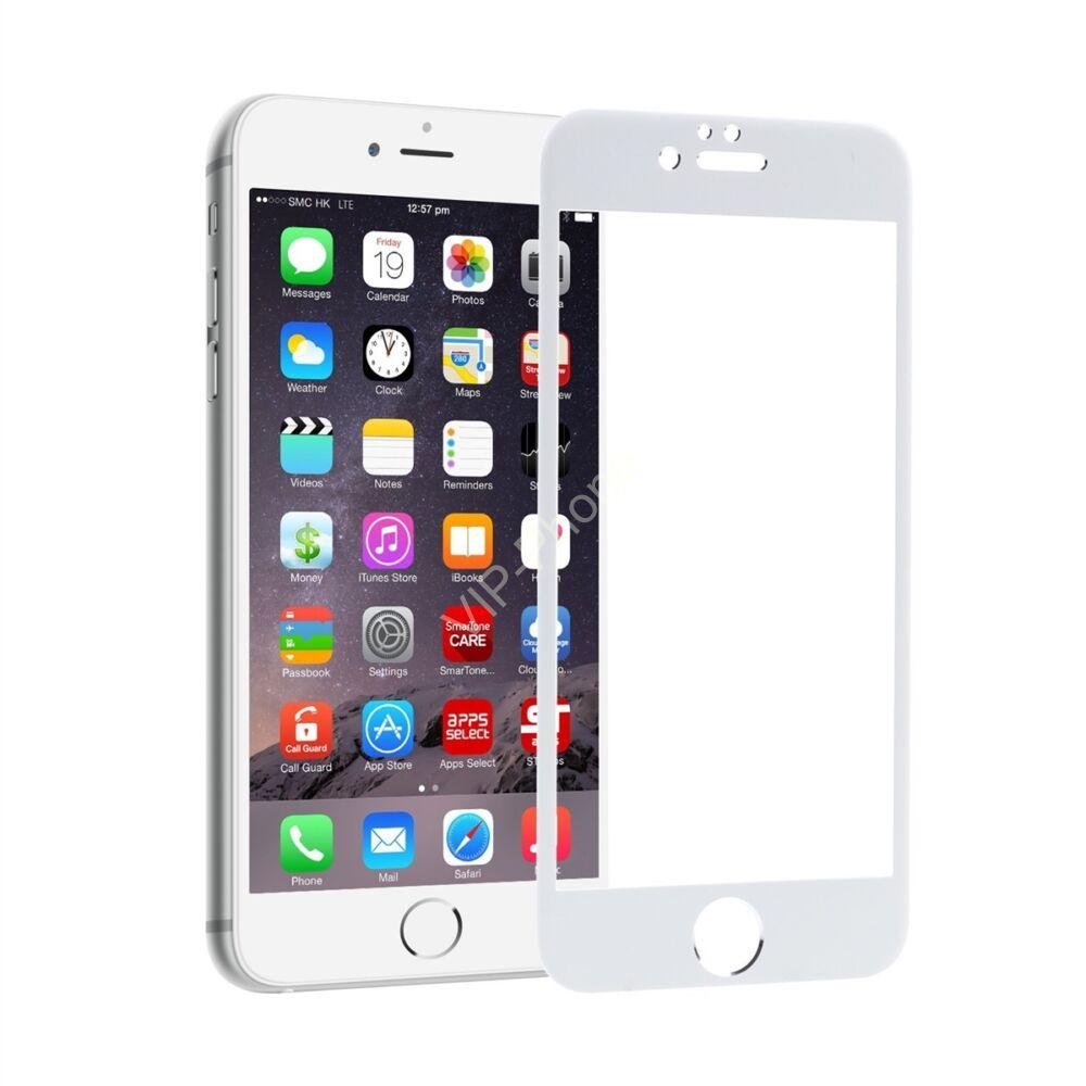 Apple iPhone 6 / 6S 2D Fullcover, fehér üvegfólia