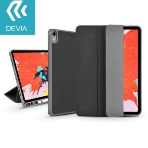 Apple iPad Air 4 10.9 (2020) védőtok (Smart Case) Apple Pencil tartóval - Devia Leather Case - black